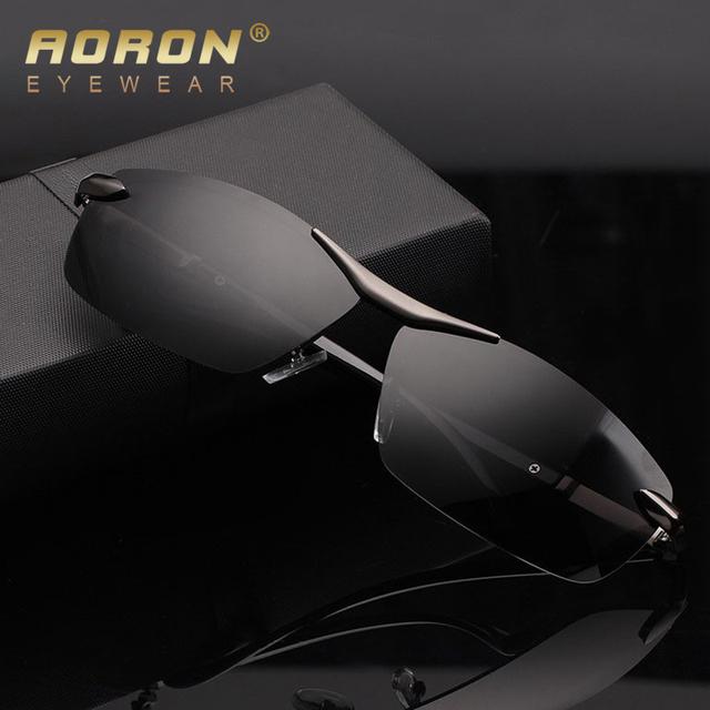 Aoron marca moda retângulo dos homens uv400 lente polarizada óculos de sol dos homens de condução óculos óculos de desgaste diário casual a289