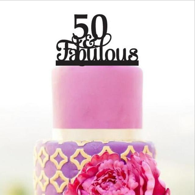 2017 Real Rushed Acrylic Number of 50 Years fabulous Wedding Cake