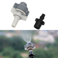 Boquilla de atomización de nebulización de 6mm 50 Uds. Con boquilla de 6mm a 4/7mm conectores rectos de interfaz de aspersores de sistema de riego de jardín