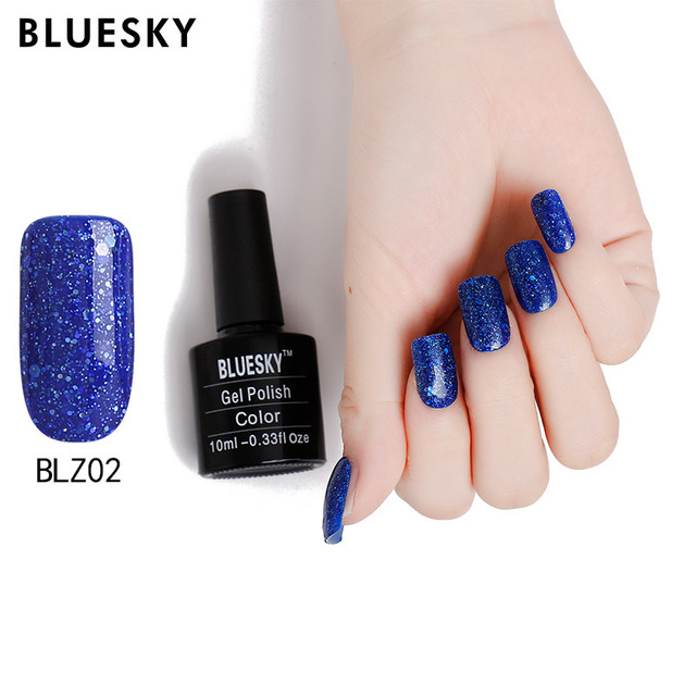 bluesky 10ml Diamond Nail Gel Polish Lacquer UV Soak Off Gel Nail ...