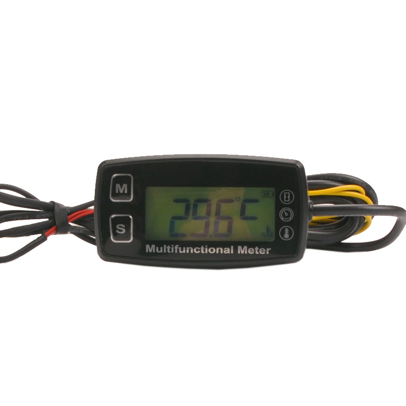 Digital LCD RL-HM035T tachometer hour meter thermometer temperature for gas UTV ATV outboard buggy tractor JET SKI paramotor digital backlight hour meter hourmeter tachometer for motocross jet ski atv snowmobile mower outboard chainsaw forklift truck