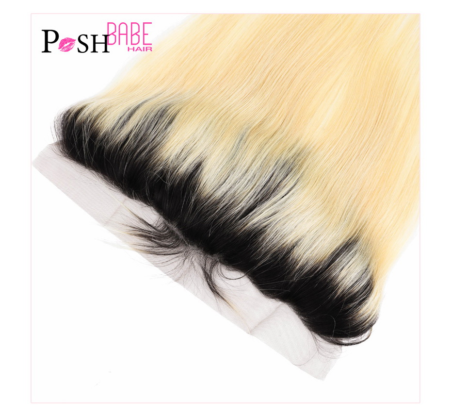 613 Blonde Colored Human Hair Swiss Frontal Closure (7)