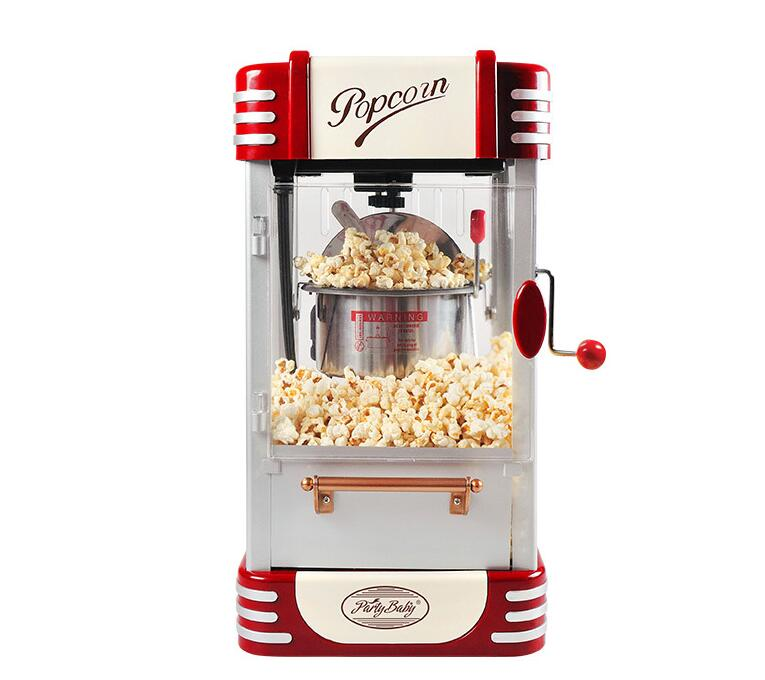 Small Electric Popcorn Machine Mini Household Automatic Hot Oil Popcorn Maker Fast Heating With Non-Stick Pot M530 commercial automatic popcorn machine electric popcorn maker with non stick pan flower type