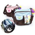 Fashion Canvas Baby Diaper Bag Maternity Bag Mother Shoulder Bag Portable Mummy Bag Waterproof Baby Stroller Pouch MM02S