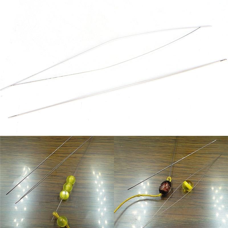 5 шт. Большой Глаз Изогнутые Иглы для бус швейная игла шнуром легко изготовления драгоценностей скучно серебряные Цвет