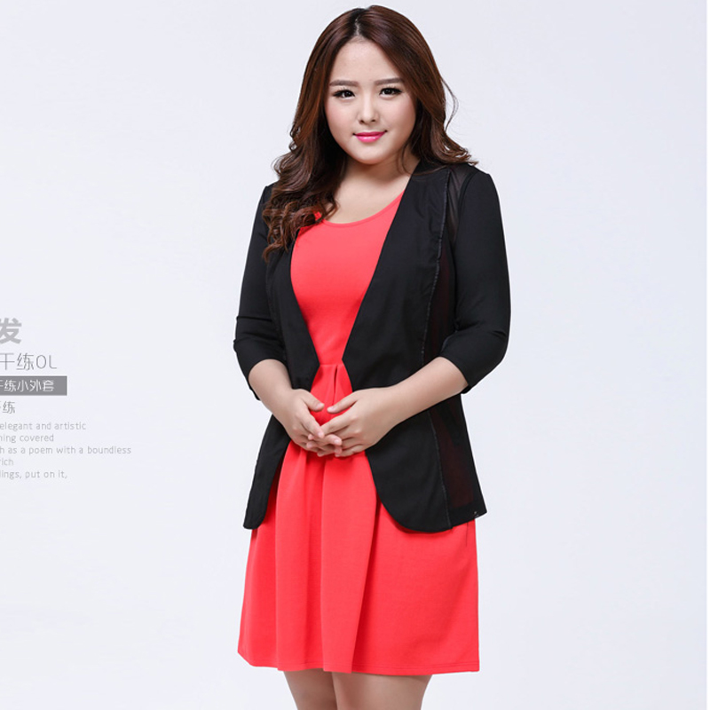 270a016593 2015 Summer Style Women Jacket Black Jacket High Street Vintage Plus Size  Half Sleeve Thin Chiffon Jackets Women Coat Slim 4Xl-in Basic Jackets from  Women s ...