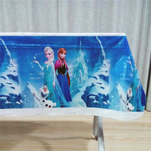 180*108cm Frozen Elsa And Anna Party Tablecloth Baby Shower Kids Favor Tablecover Birthday Decoration Supplies Table cloth