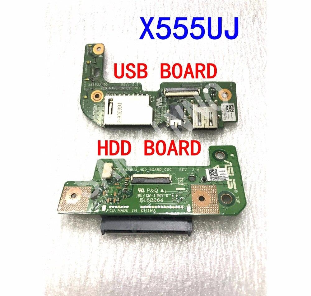 HDD board IO board USB board For ASUS X555U X555UJ X555UV X555UQ X555UF K555U A555U FL5800U for asus k52 x52j a52j k52j k52jr k52jt k52jb k52ju k52je k52d x52d a52d k52dy k52de k52dr audio usb io board interface board