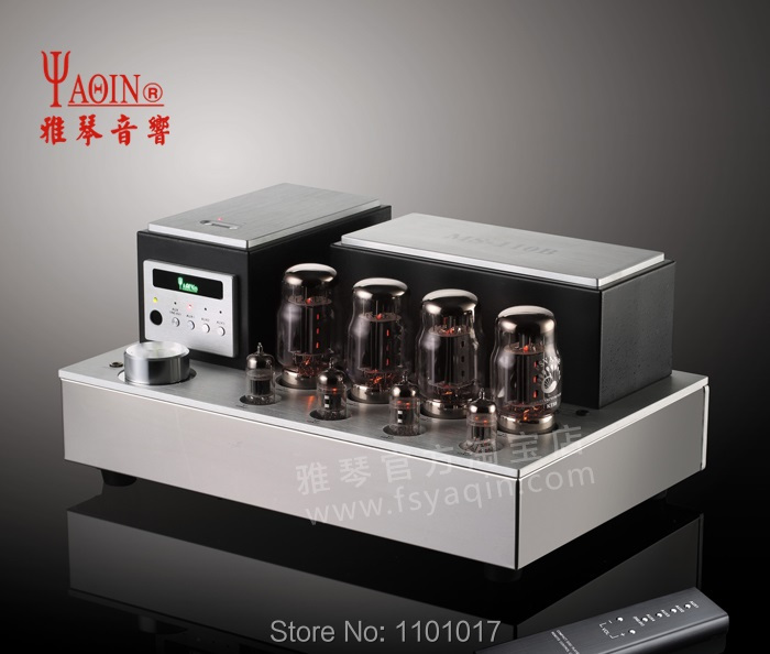 YaQin MS-110B KT88 push-pull tube amplifier HIFI EXQUIS lamp amps swith triod and ultra-linear remote appj pa1502a tube headphone amplifier hifi exquis 6n4 12ax7 6p6p 6v6 lamp headset amps