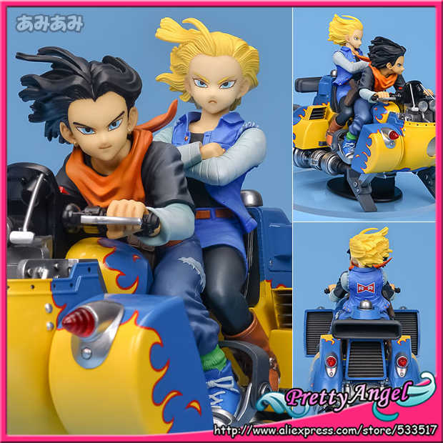 Megahouse lindo anjo-GENUINE DESKTOP Real mccoy 04 De Dragon BALL z. Android #17 & #18 PVC Figura Completa