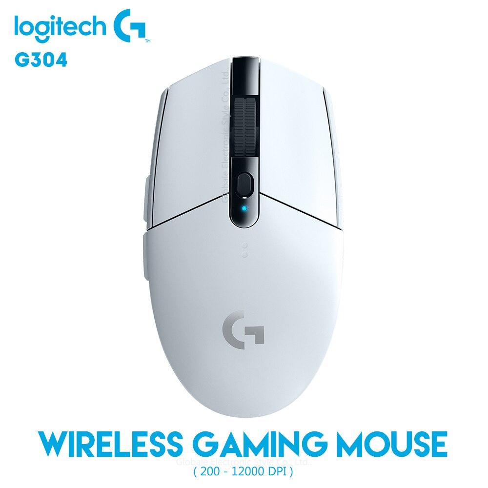 Original Logitech G304 LIGHTSPEED Wireless Mouse Gaming 12000 DPI Adjustable 2.4GHz USB Computer Gamer 6 Programmable Buttons
