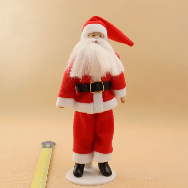 Christmas Santa Claus dolls for 1:12 dollhouse kids family pretend play toys miniature ceramics doll for children girls gifts 1