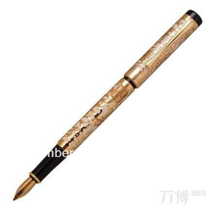 high quality Jinhao pen 5000 luxury Golden Dragon pen 0.5mm Nib Ink Gifts Writing luxury school Office Stationery metal Fountai dikawen 891 gray gold dragon clip 0 7mm nib office stationery metal roller ball pen pencil box cufflinks for mens luxury