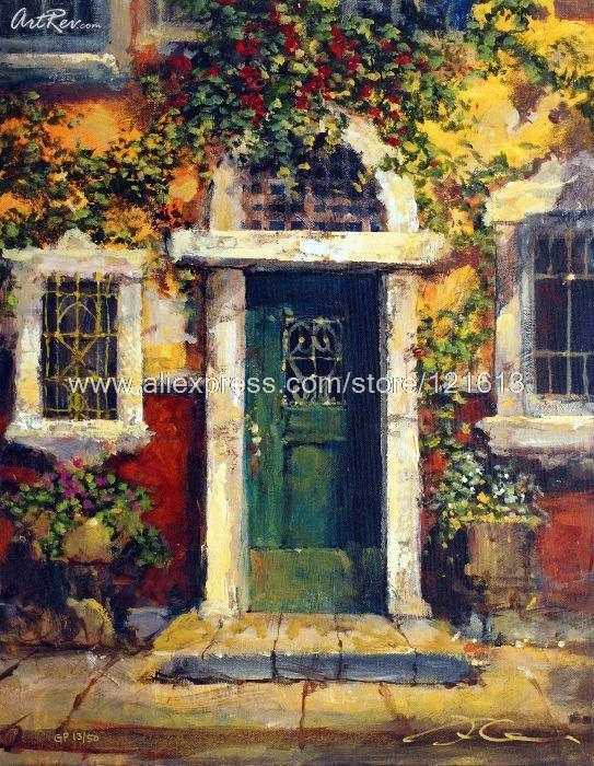 James Coleman Green Door In Naples Oil Painting On Canvas