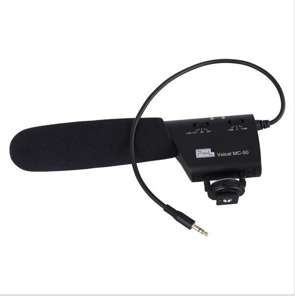 Pixel Microphone Voical MC-50 DSLR Camera Mounted Shotgun Microphone for Canon Nikon Sony Blackmagic A602002