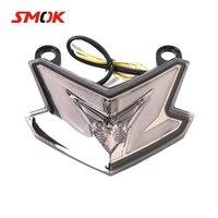 SMOK Motorcycle Tail Light Motorbike Brake Rear Lamp Integrated Turn Signal Light For Kawasaki Z800 ZX6R 636 Z125 PRO 2013 2018