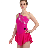 2019 New red figure skating dress woman girl kids adult crystal custom ice skating dress woman girl kids custom color size