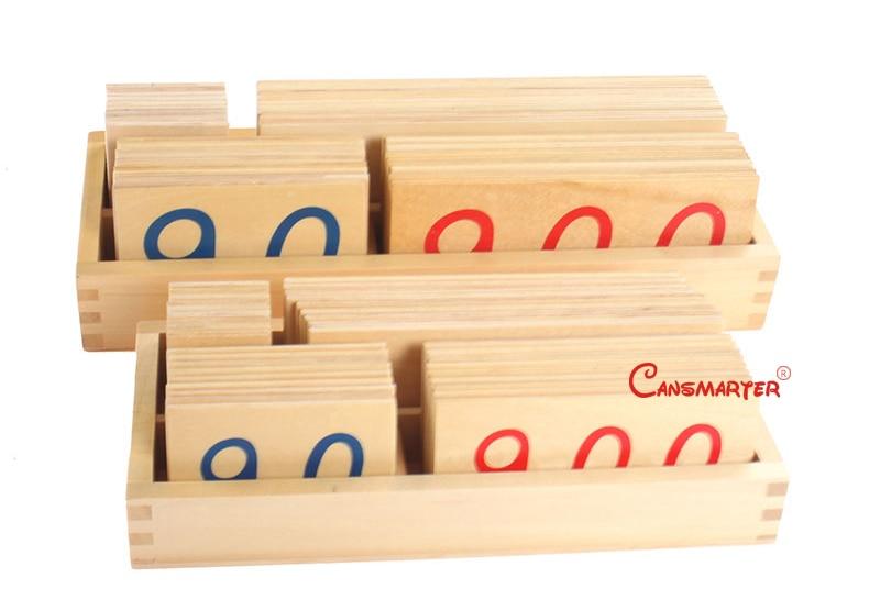 Montessori brinquedos de ensino 1-9000 número de