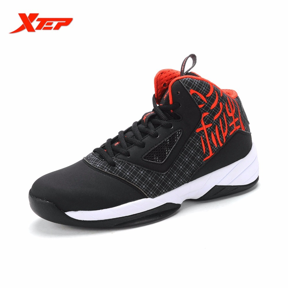 XTEP Original Authentic Men's Cheap Basketball Boots Outdoor Sports Shoes PU Gym Breathable Sneakers DMX Training Anti-slip