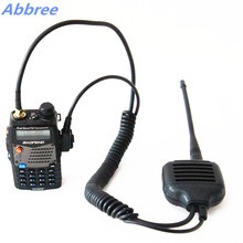 Abbree KMC-26 Two Way Radio Speaker Microphone with SMA-Female Dual Band Antenna for Walkie Talkie UV-5R/A/B/C/E BF-888S GT-3