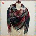 69 colores al por mayor Caliente! 2016 Nuevo diseño de Invierno Cheque Bufanda Tartán manta A Cuadros de Las Mujeres bufanda de la señora,! 140 cm x 140 cm chal cuadrado