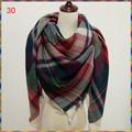 69 cores Hot venda por atacado! 2016 Novo design Da Marca Inverno Cachecol Verifique Tartan cobertor Xadrez Mulheres lady cachecol,! 140 cm x 140 cm xale quadrado