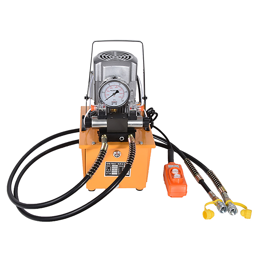 220 V dvigubo veikimo elektrinio hidraulinio siurblio talpa 8L hidraulinio variklio pompa 1400r / min. GYB-700A-II aukšto slėgio alyvos pompa