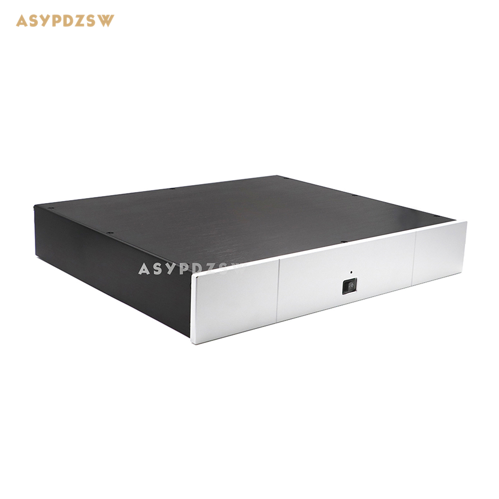Aluminum 4307 Power amplifier Enclosure DAC chassis Preamplifier case 430*70*350 4308 rounded chassis full aluminum enclosure power amplifier box preamplifier chassis