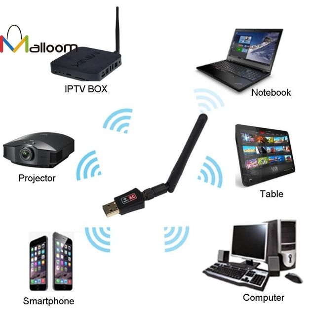 Malloom 2018 Neue Ankunft Drahtlose Wifi Antenne Bluetooth Adapter ...