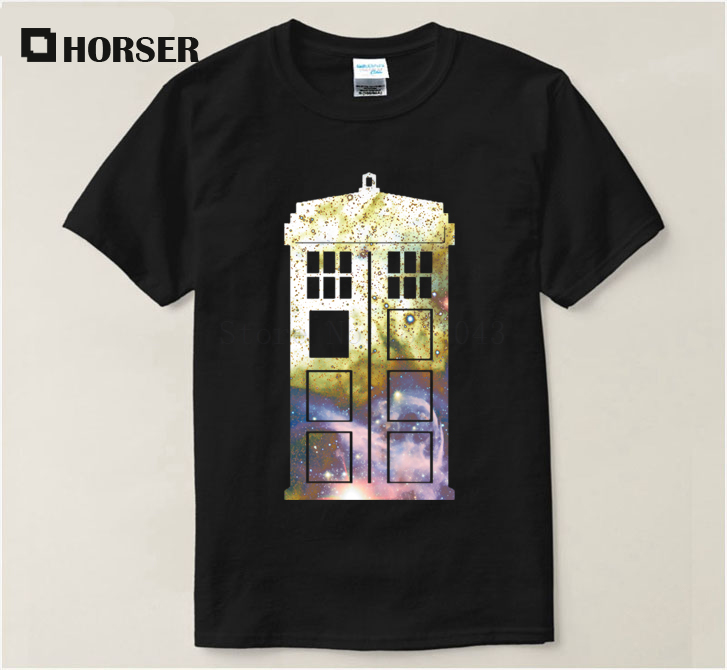 Famous T Shirt Doctor Who Galaxy Tardis Police Box Cool 2017 Summer T-Shirt For Men Cotton Funny