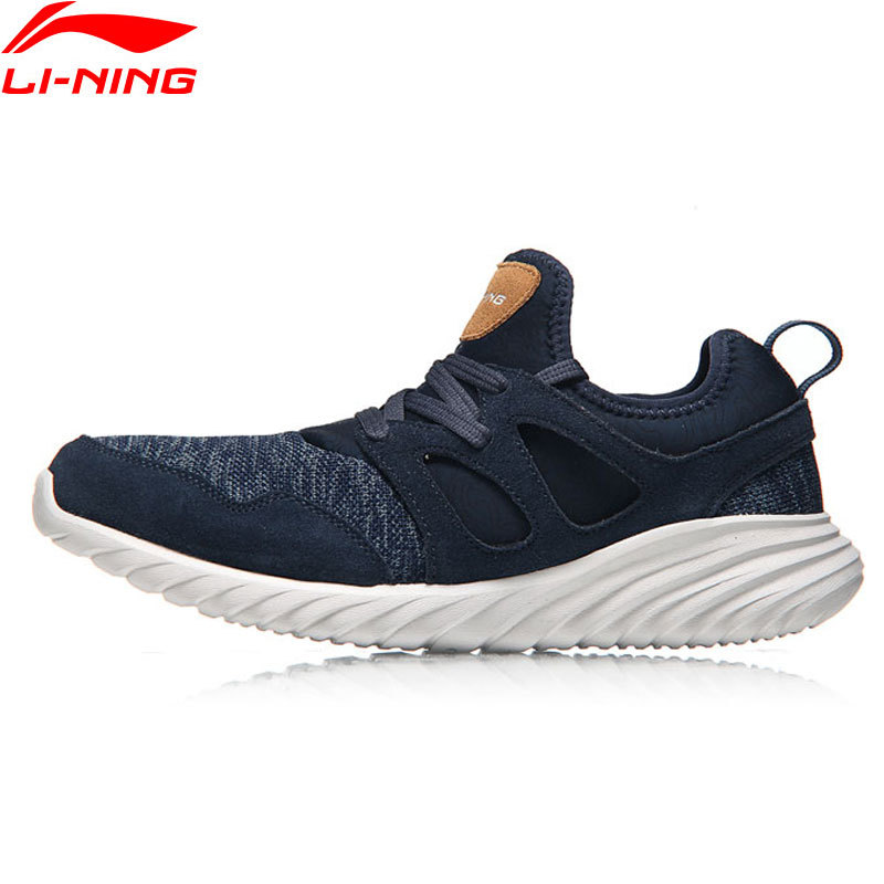 Li-Ning Lace-Up Men Edge Walking Shoes Leisure Super Light Weight Breathable LiNing Comfort Sports Shoes Sneakers AGCM057 Z063