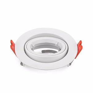 Image 1 - Free Shipping 2pcs Embeded GU10 / MR16 Spot Light Frame Led Fitting Round Aluminum LED Ceiling Spot Light Lighting Fixtures