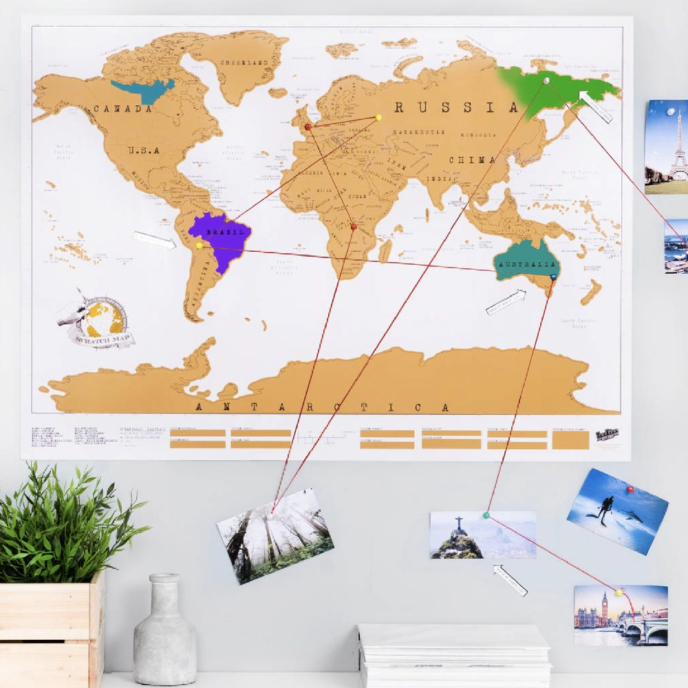High quality big scratch map world travel tracker adventure traveler high quality big scratch map world travel tracker adventure traveler gift scraping personalized education wall sticker 8852cm in party favors from home gumiabroncs Images