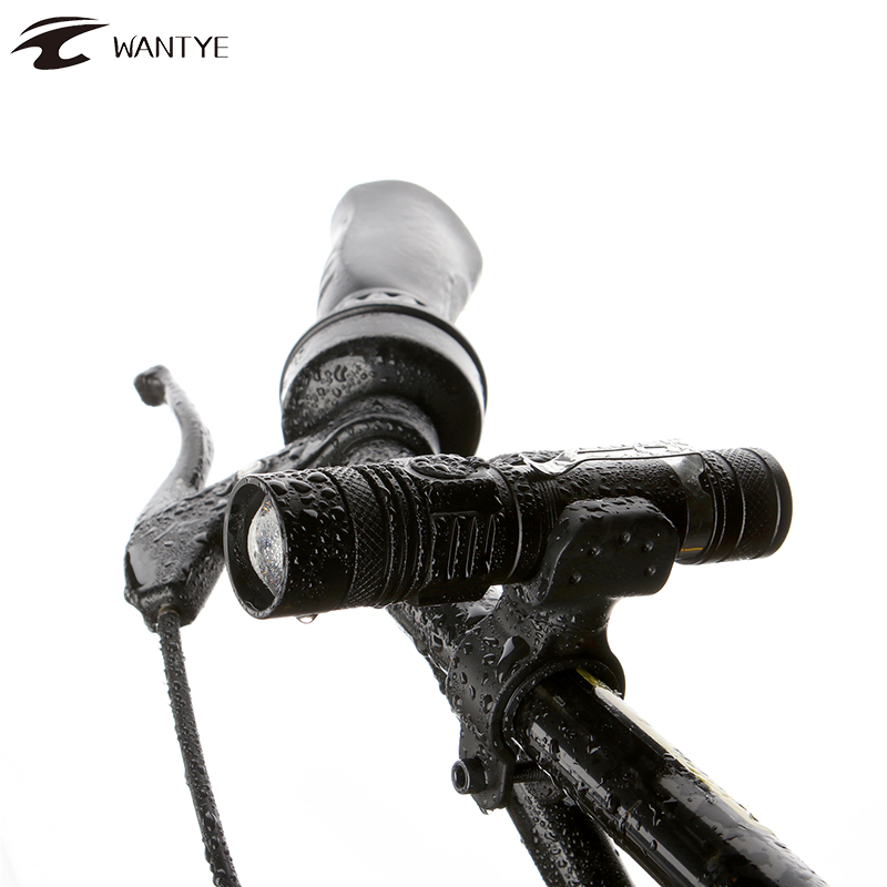 3800LM USB Rechargerable LED Flashlight Bicycle Light XML T6 Zoomable Waterproof Bike Light Front Torch Use 18650 Battery