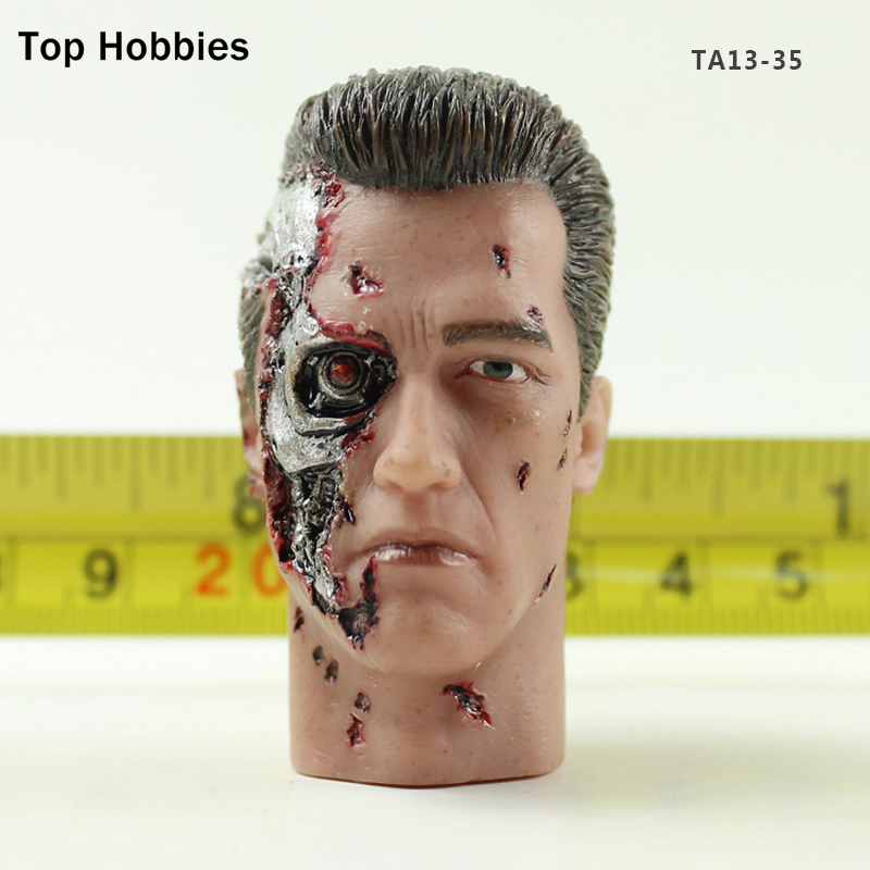 TA13-35 1/6 Scale Male Zombie Head accessories carving Sculpt Model Fit 12 Inch Phicen Action figure Doll Toys 1 6 head sculpt male figure doll terminator connor damaged head carved head carving 1 6 action figure accessories toys gift