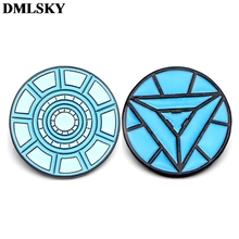 DMLSKY Iron Man Nuclear Reactor Art Enamel Pins and Brooches Lapel Pin Backpack Bags Badge Clothing Decoration Gifts M3552 weston stacey m nuclear reactor physics