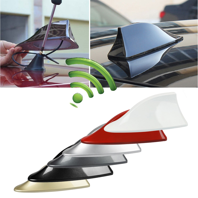 Car Shark Fin Antenna Auto Radio Signal Aerials Roof Antennas For BMW/Honda/Toyota/Hyundai/Kia/Nissan Car Styling & 2Sided Tapes