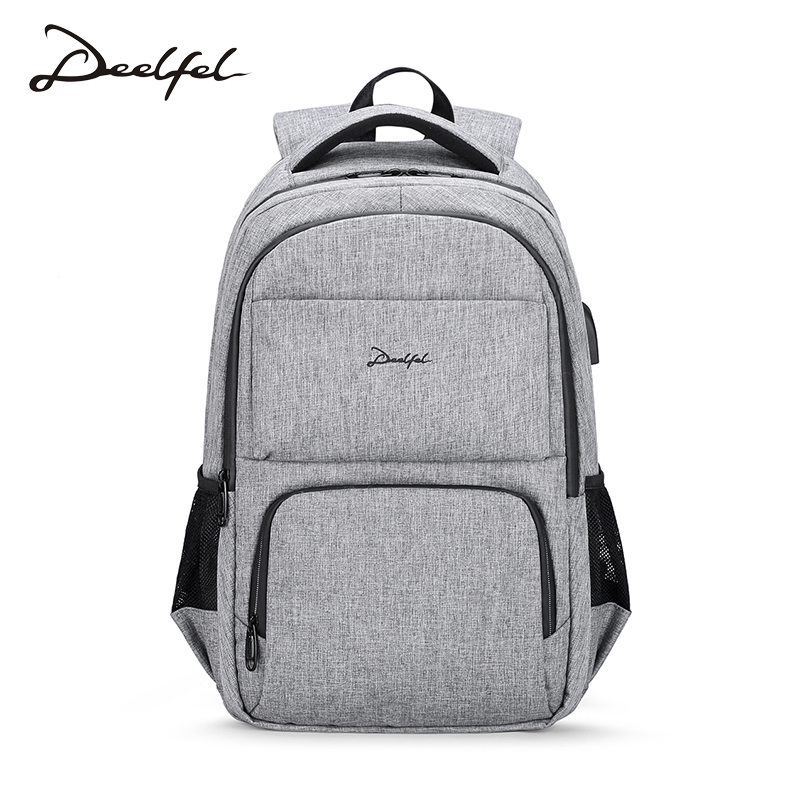 Здесь можно купить  DEELFEL 15.6inch Laptop Backpack For Women Men School Backpack Leisure Bag Men Bagpack Anti Thief USB Backpack sac a dos homme  Камера и Сумки
