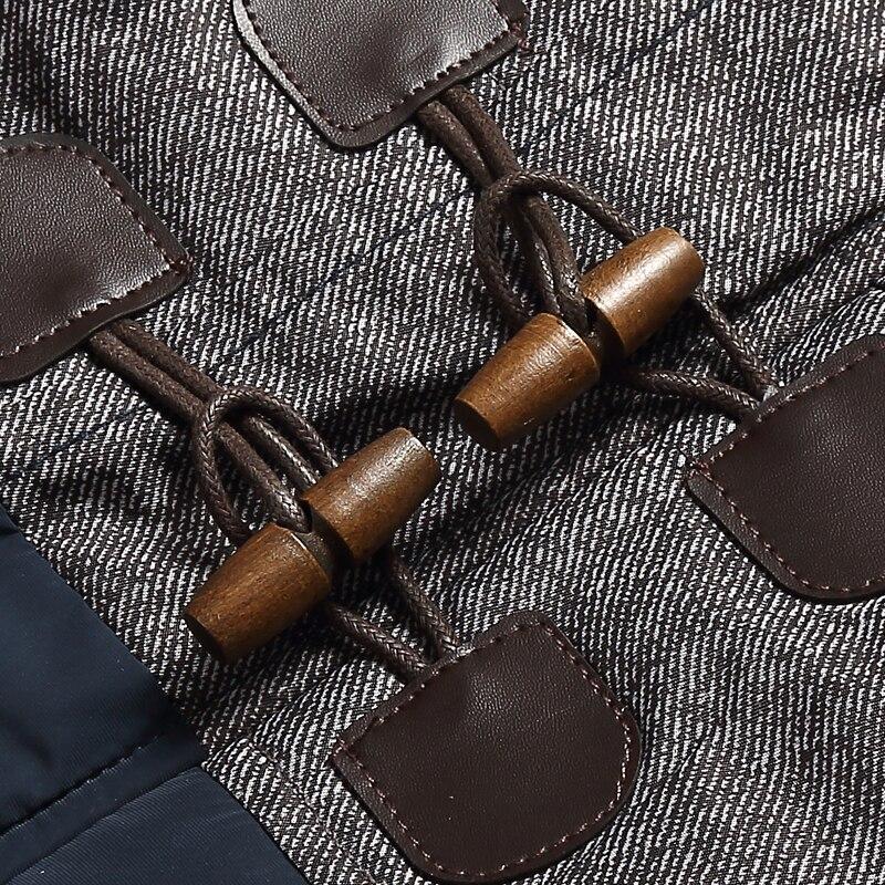 Marque Hiver Veste Hommes Mode M-5XL Nouvelle Arrivée Occasionnel Mince Coton Épais Mens Manteau Parkas Avec À Capuche Chaud Casaco Masculino - 5