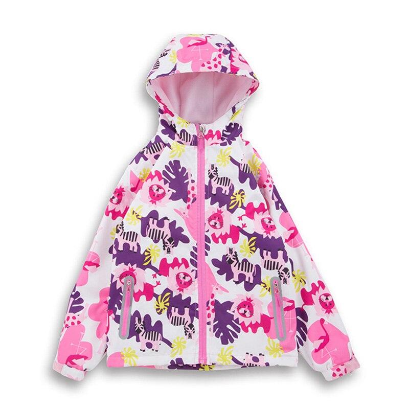 4-10Yrs Children's Thicken Winter Coat Girls Printing Ski Coatsl Winter Velvet Hooded Outerwear Kids Clothes