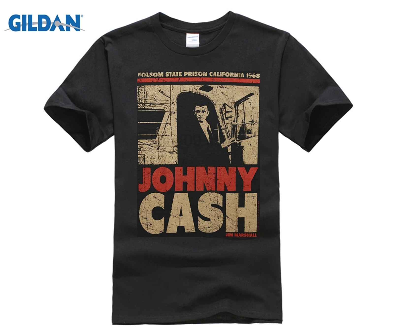 Authentic JOHNNY CASH Man In Black T-Shirt S-3XL NEW Short Sleeve T Shirt Men Print Men T Shirt Summer Top Tee Plus Size ...