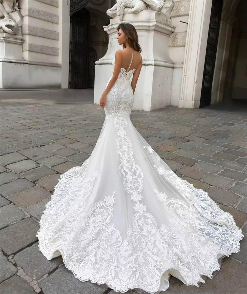 2018-Mermaid-Trumpet-Lace-Wedding-Dresses-for-Women-Sleeveless-Strapless-Lace-Appliques-Sexy-Backless-Dresses-Custom