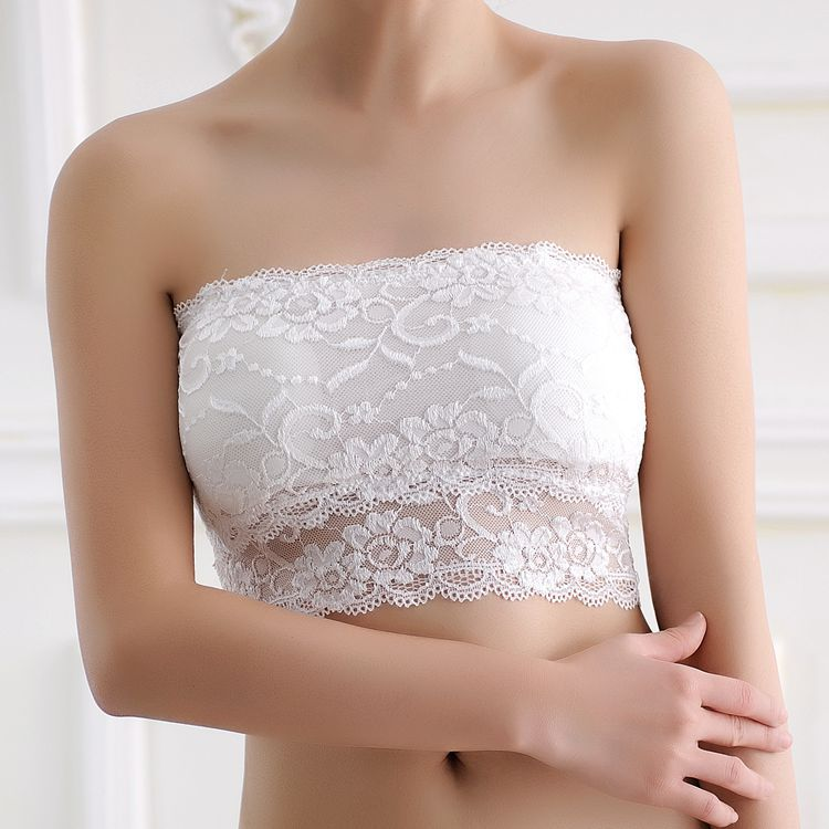 New Girls Soft Bra Women's Sexy Strapless Crop Top Bra Bandeau Boob Tube Tops Lace Casual Crop Boob Tube Top #c0 10