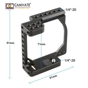 Image 4 - CAMVATE kamera kafesi çerçeve A6000/A6300/A6400/A6500 ve Eos M/M10 C1850 kamera fotoğraf aksesuarları