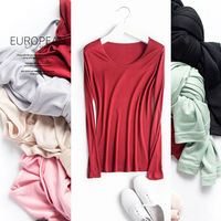 Women Basic Shirt 100 REAL SILK T Shirts Solid Long Sleeved O Neck Shirt Healthy Natural