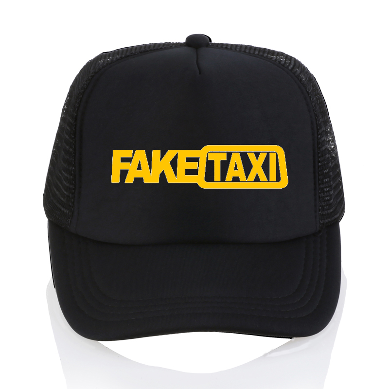 Fake Taxi   Baseball     caps   High Quality Mesh summer Men dad hat cotton Black FakeTaxi Print snapback hats