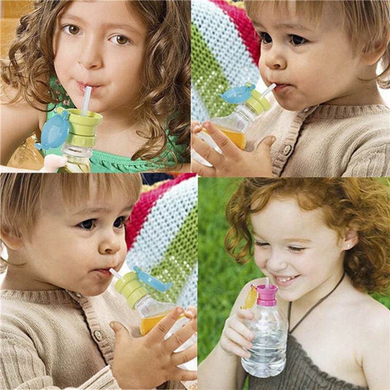 Children Kids Portable Spout Cover Protection Tool Drink Bottle Drinking Straw