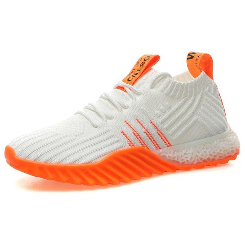 2019 plate-forme chaussette femmes noir Orange vert blanc cassé baskets Chunky chaussures maille Tenis Feminino baskets chaussures décontractées FM-A22