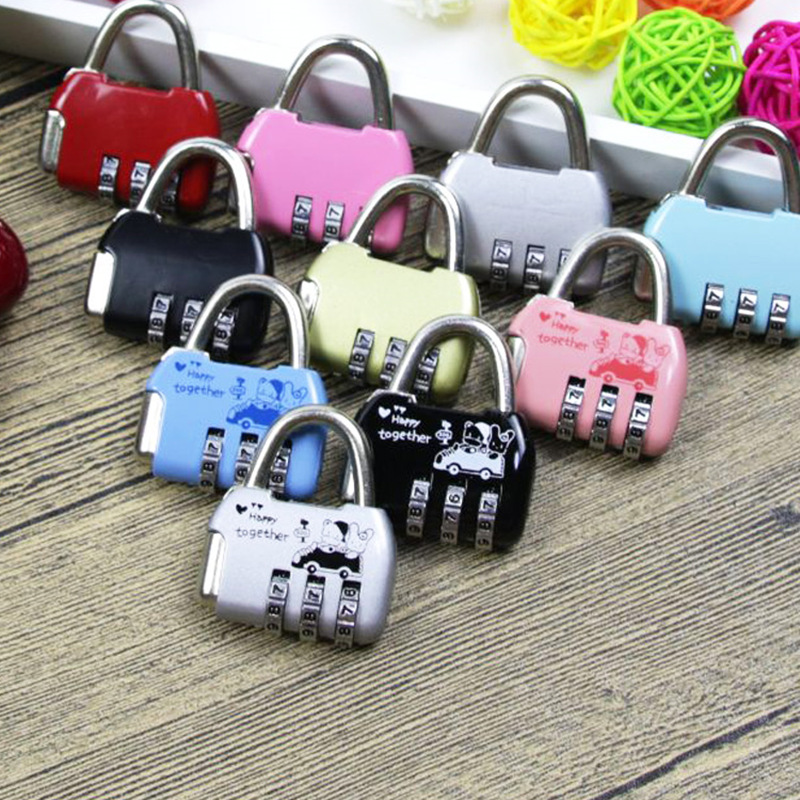 3 Digit suitcase combination lock Code Number padlock Luggage locks for Zipper Bag Backpack Handbag Drawer Cabinet цена и фото