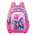 16'' New Girls Schoolbag Pink Children Cartoon Butterfly Cat  Backpack Waterproof  Lightening EVA Backpack Grades 1- 5 Kids Bag